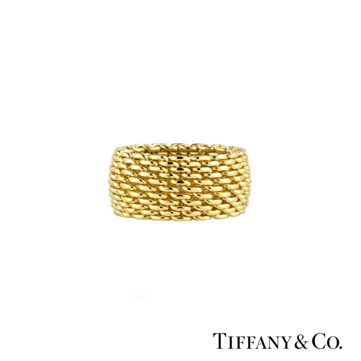 Tiffany & Co. Yellow Gold Mesh Somerset Ring